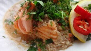 Сациви с лососем